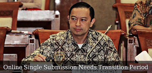 Online Single Submission Needs Transition Period